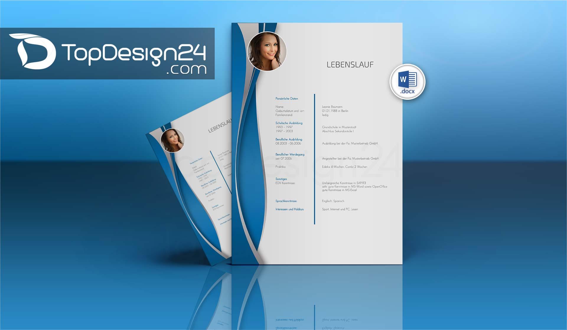 Bewerbung Layout - TopDesign24 Bewerbungsvorlagen