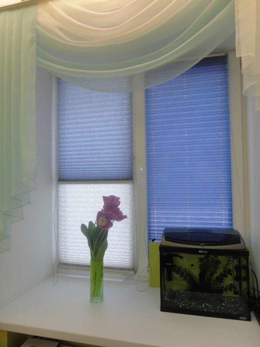 Варианты оформления окна шторами и жалюзи фото