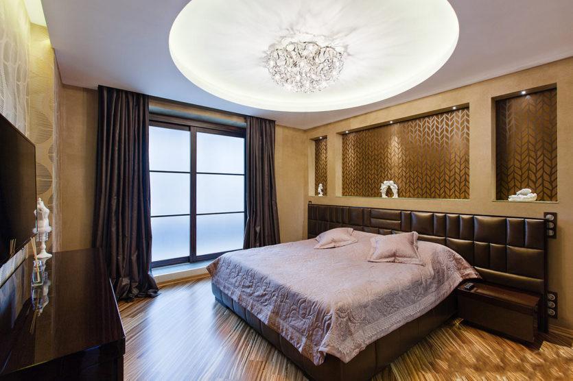 дизайн потолка в спальне 3