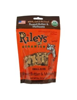 Riley's Organics Peanut Butter and Molasses treats for dogs