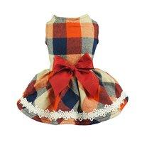 Autumn Plaid Dog Dress