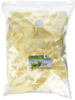 Green Cow Rawhide Dog Bones, Natural Chips