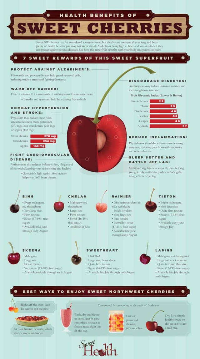 Benefits of cherries for dogs infographic