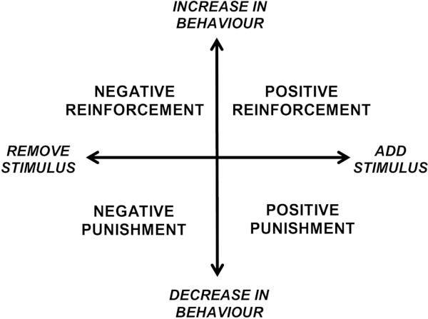Reinforcement and punishment in dogs diagram