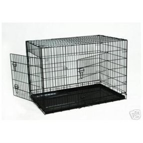 """BestPet 42"""" Pet Wire Cage with ABS Pan"""