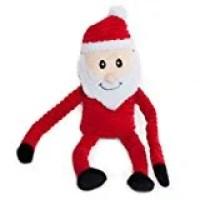 ZippyPaws Holiday Crinkle - Squeaky Plush Dog Toy (Santa)