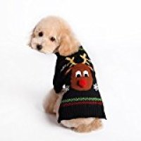 Menpet Pet Holiday Cartoon Reindeer Dog Sweater