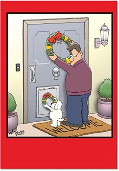 Dog Wreath Inappropriate Christmas Cards