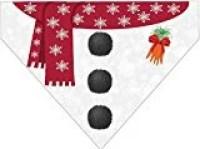 Plus Size Pups' Christmas Over the Collar Dog Bandana – Snowman