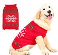 Pupteck's Ugly Christmas Dog Sweater Holiday - Snowflake Style