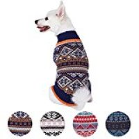 Blueberry Pet Holiday Season Nordic Fair Isle Snowflake Dog Sweater
