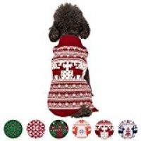 Blueberry Pet Vintage Holiday Festive Christmas Themed Dog Sweater