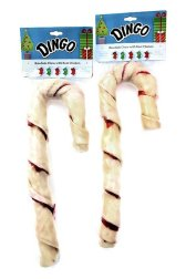 Dingo Christmas Holiday Candy Cane Rawhide Treats