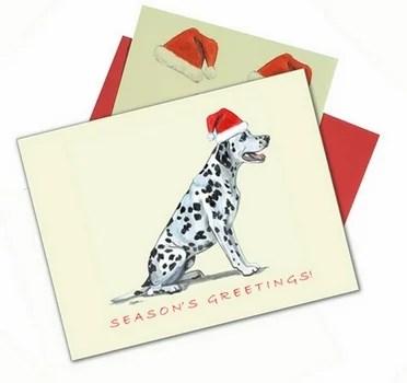 Santa Dalmatian Christmas Cards