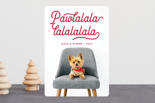 Pawlalala Kate & Pierre Puppy Holiday Card