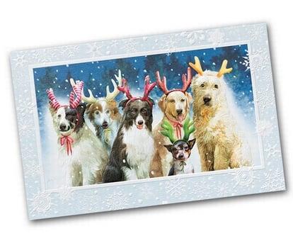 Reindeer Games - Dog Christmas Card