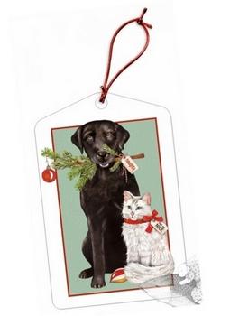 Black Lab & Kitty Gift Tags