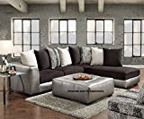 Roundhill Furniture Shimmer Pewter Microfiber Sectional Sofa