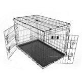 Pet Champion Deluxe Folding Portable 2-Door Wire Pet Crate