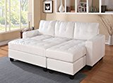ACME Lyssa White Bonded Leather Sectional Sofa