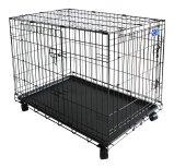 Simply Plus Folding Double Door Dog Crate