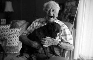 104-year-old Man Who Adopted Senior Dog Shares His Secret to Long Life