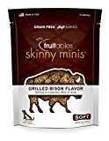 Fruitables Skinny Minis Chewy Dog Treats in Grilled Bison Flavor