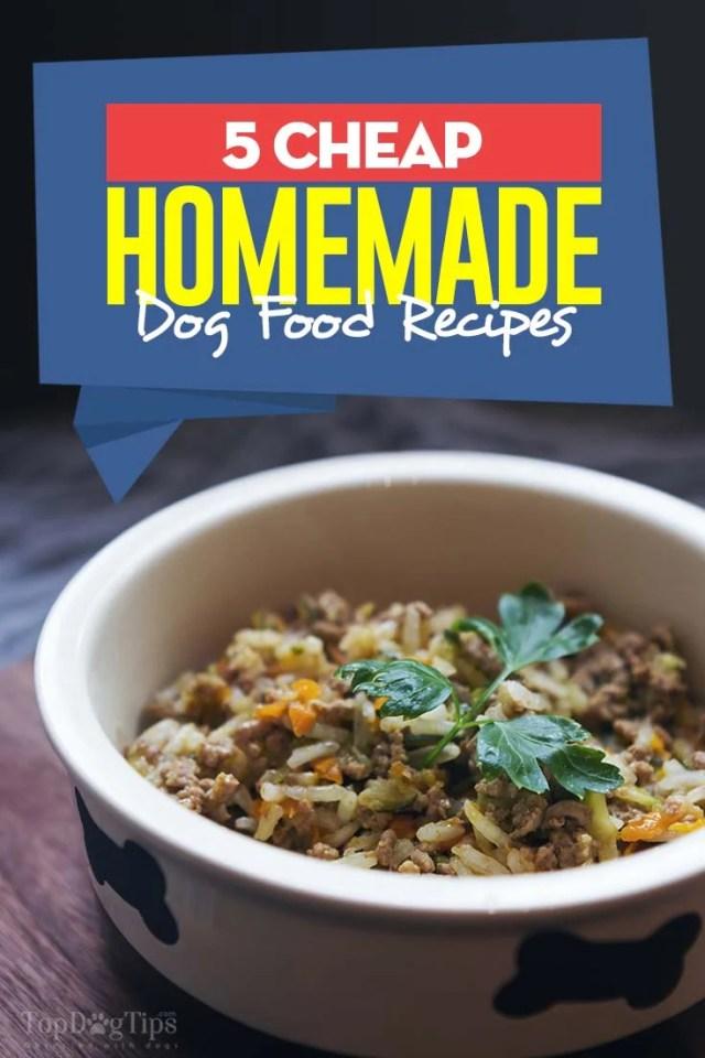 Good Cheap Homemade Dog Food Recipes