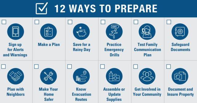 12 Ways to Prepare