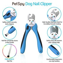 Dog Nail Clippers with Quick Sensor by PetSpy