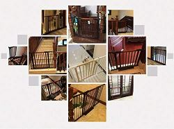 Pet Gate for Stairs with Banisters by Kingbo