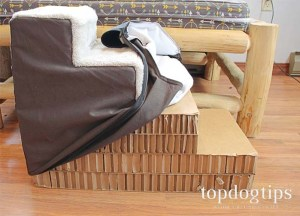 Removable Cover of Dog Stairs for Bed