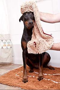Soggy Doggy Super Shammy Dog Towel, Pockets by Soggy Doggy Productions