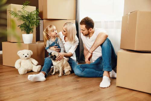 new homeowners with dog