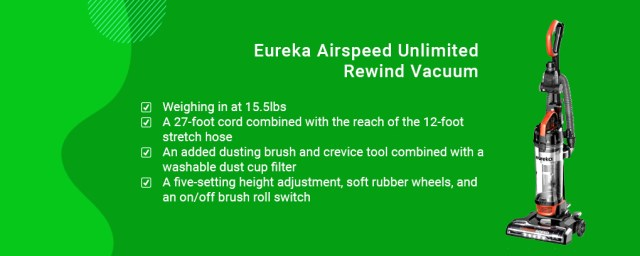 Eureka Airspeed Unlimited Rewind Vacuum