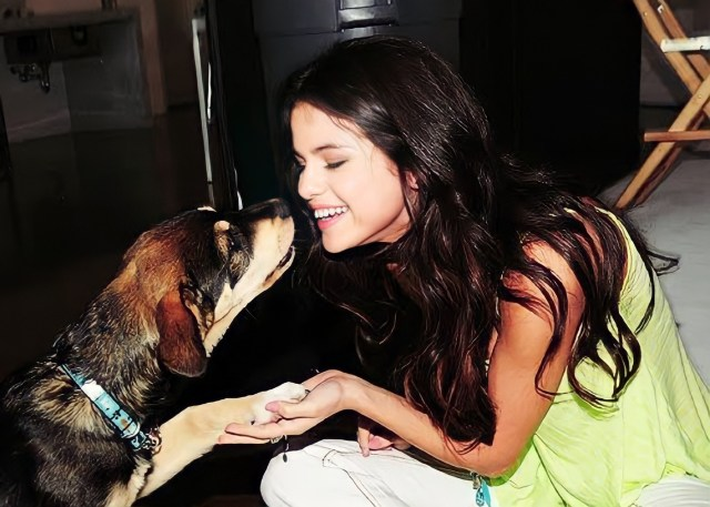 Selena Gomez and Husky Mix, Baylor