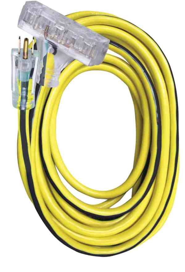 100' 12/3 SJTW UG Ext Cord 3-Outlet