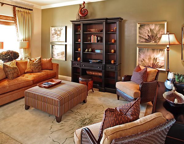 Fall Themed Living Room Designs