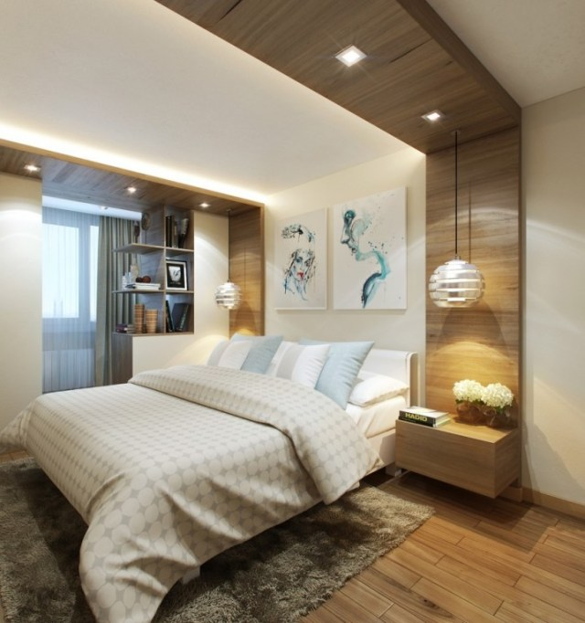 Modern Bedrooms With Eye-Catching Hanging Lamps