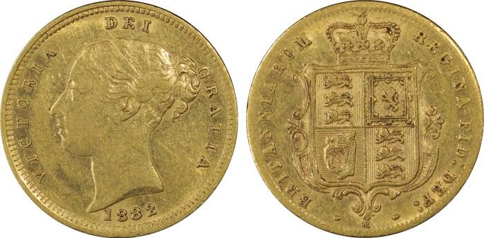 Australia 1882M Half Sovereign PCGS XF45