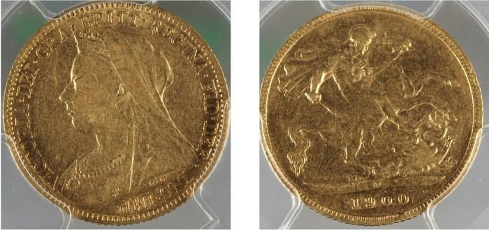 1900 Perth Half Sovereign PCGS XF40