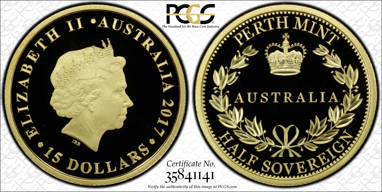 Australia 2017 Half Sovereign PCGS PR70