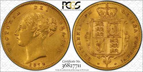 Australia 1872S Half Sovereign PCGS AU Details Grade
