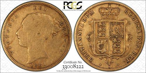 Australia 1881 Sydney Half Sovereign PCGS VG08