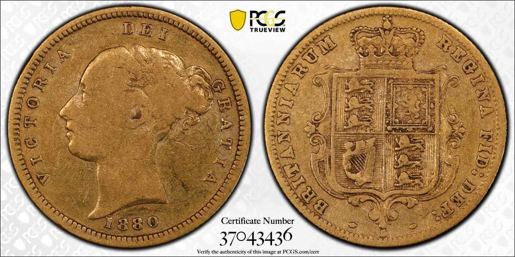 Australia 1880 Sydney Half Sovereign PCGS VF20