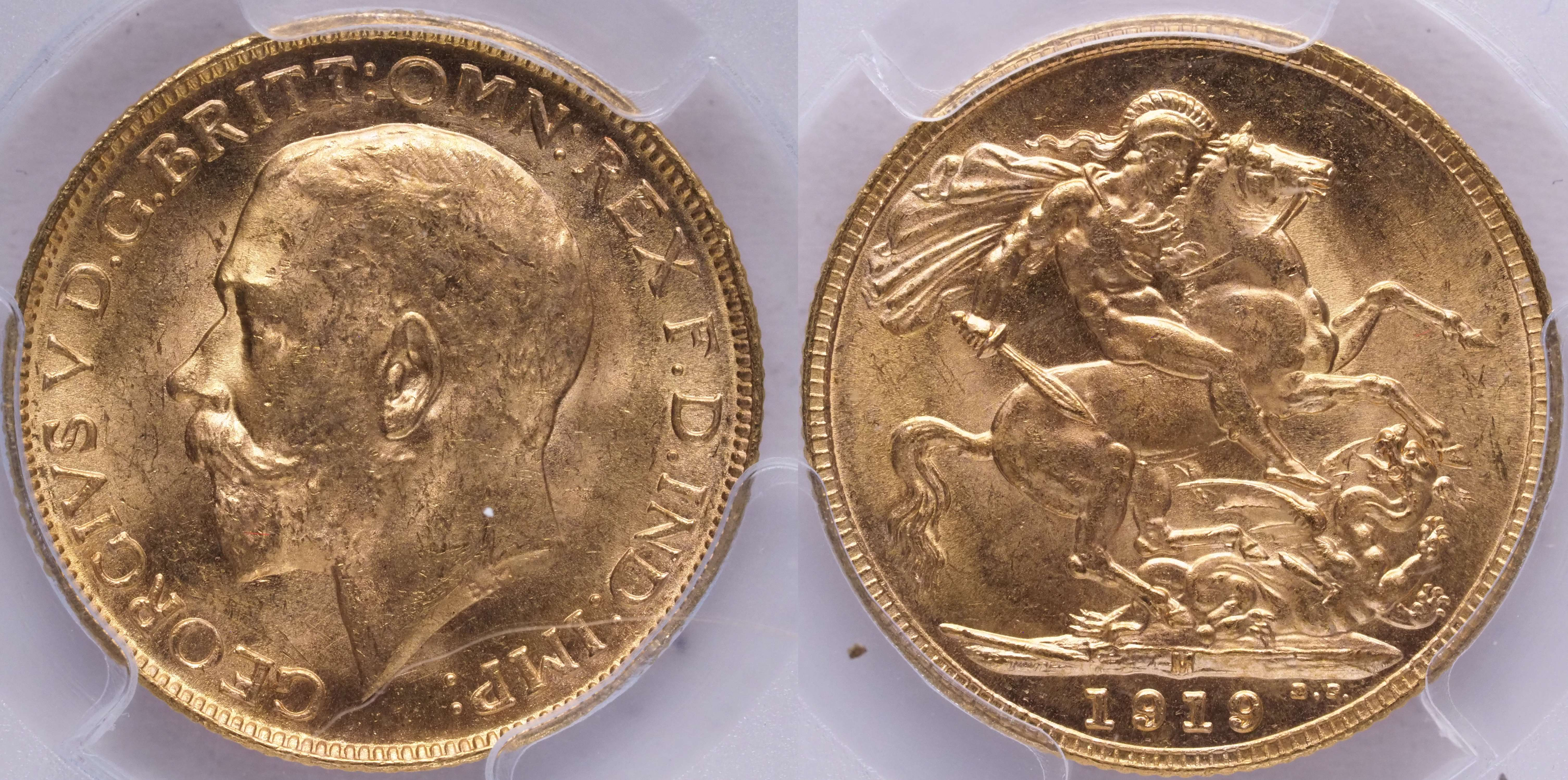 Australia 1919 Melbourne Sovereign PCGS MS64