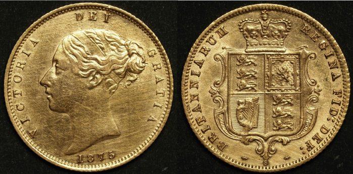 Australia 1875 Sydney Half Sovereign aUNC Details