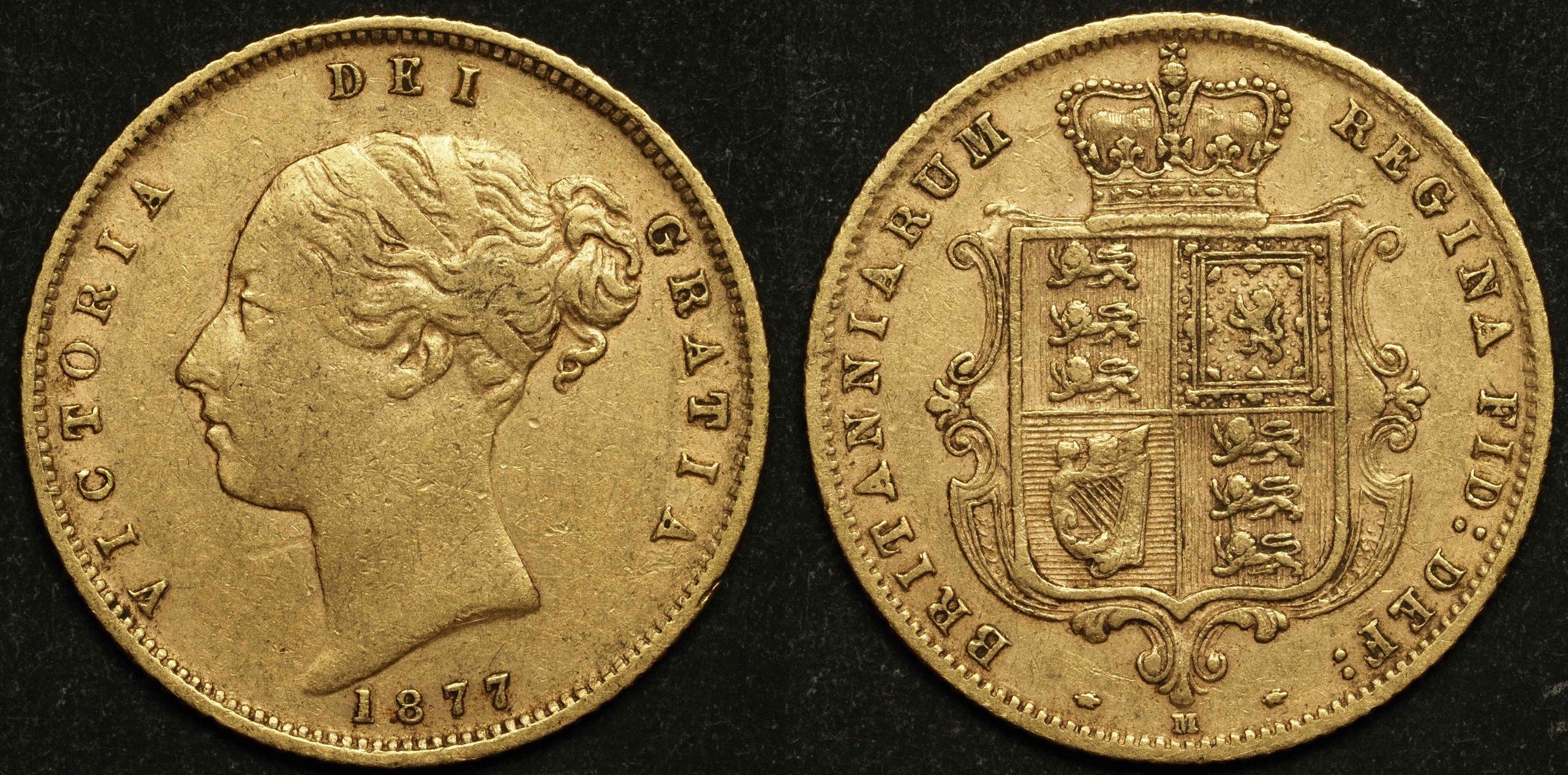 Australia 1877 Melbourne Half Sovereign EF
