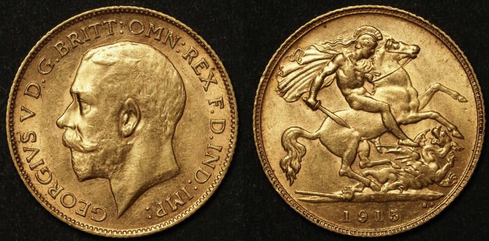 Australia 1915 Perth Half Sovereign UNC