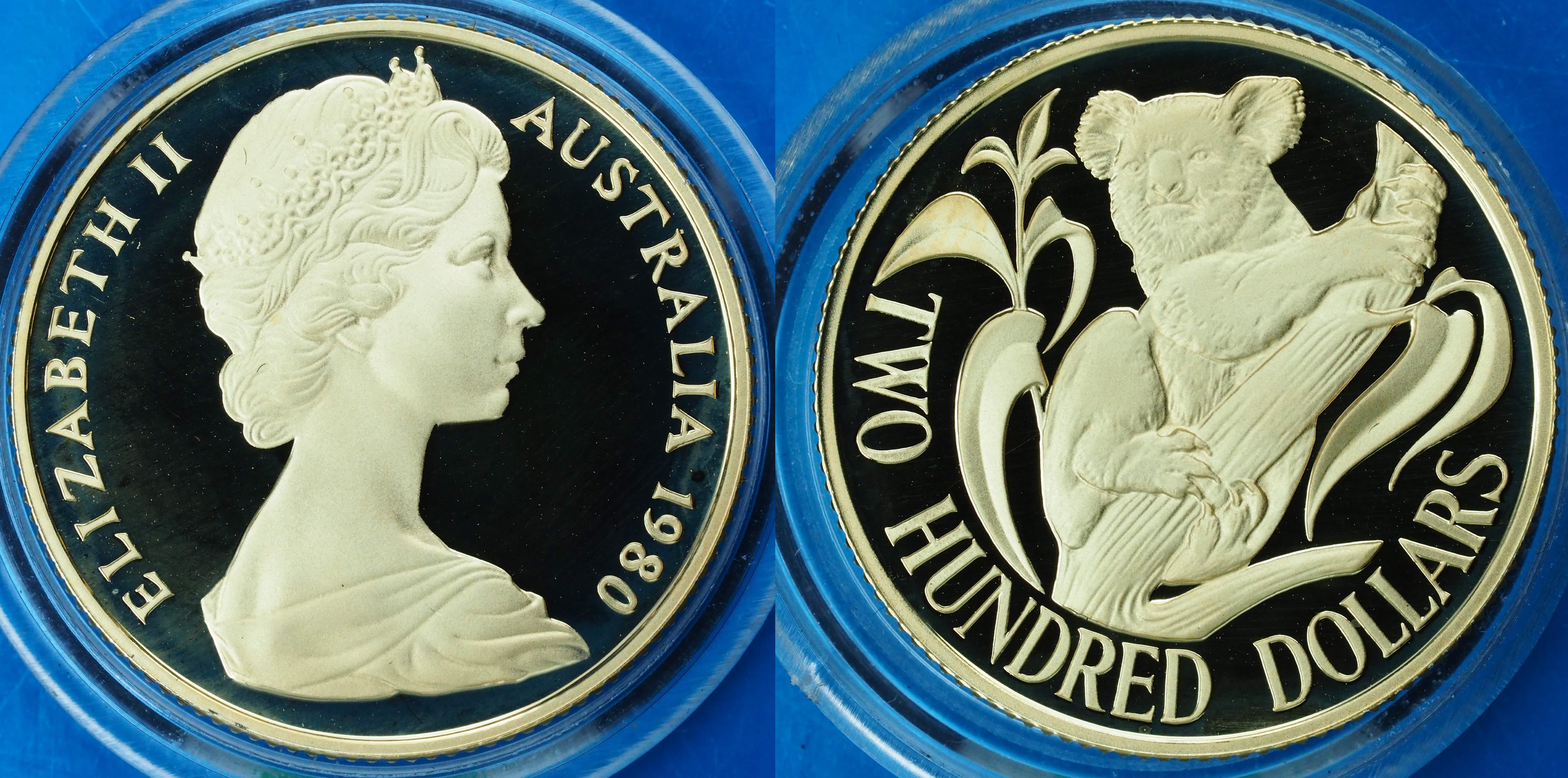 Australia 1980 Koala Proof $200 Coin